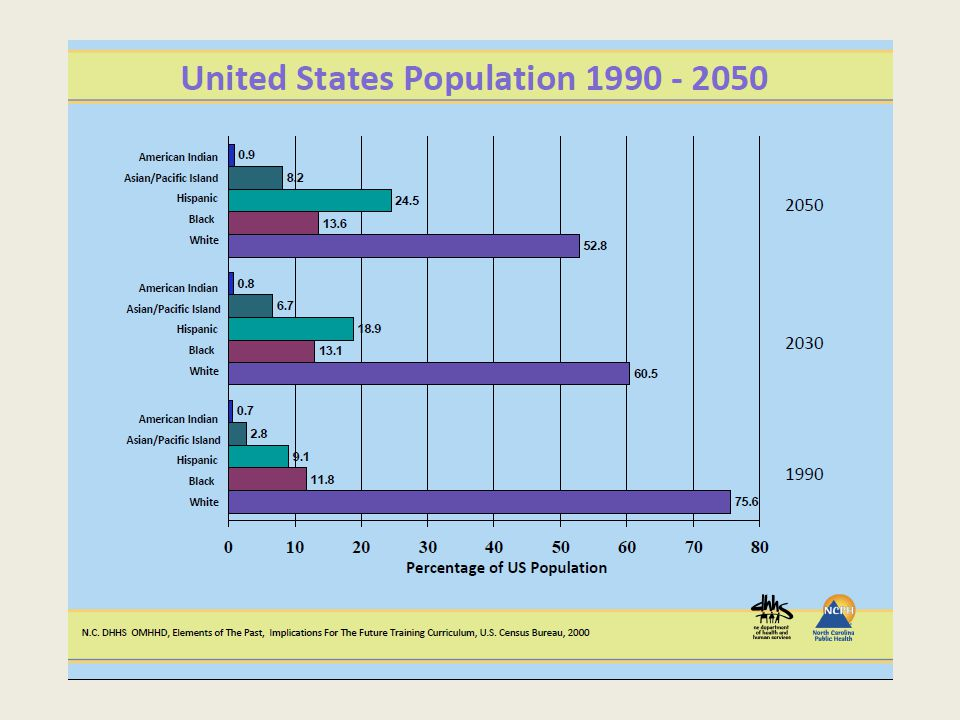 Population trends in the United States by age and race/origin, 1980 to 2030 Smith B D et al.
