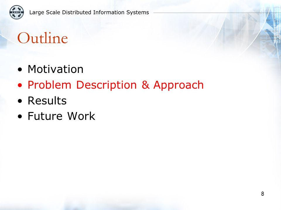 8 Outline Motivation Problem Description & Approach Results Future Work