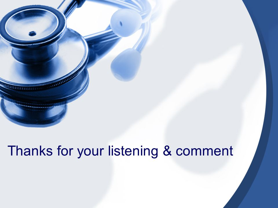 Thanks for your listening & comment