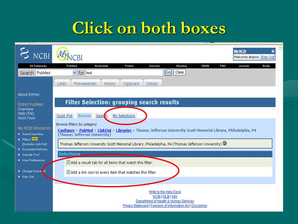 Click on both boxes
