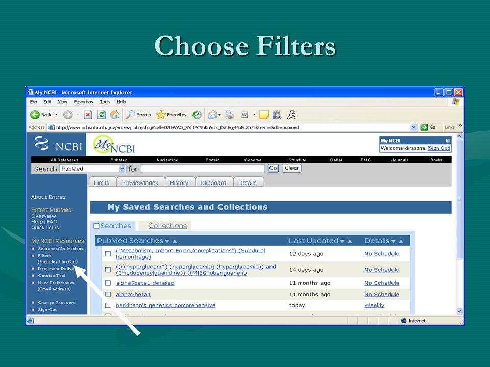 Choose Filters