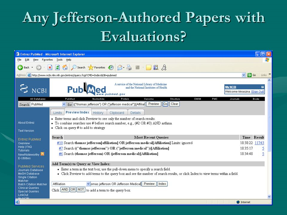 Any Jefferson-Authored Papers with Evaluations?