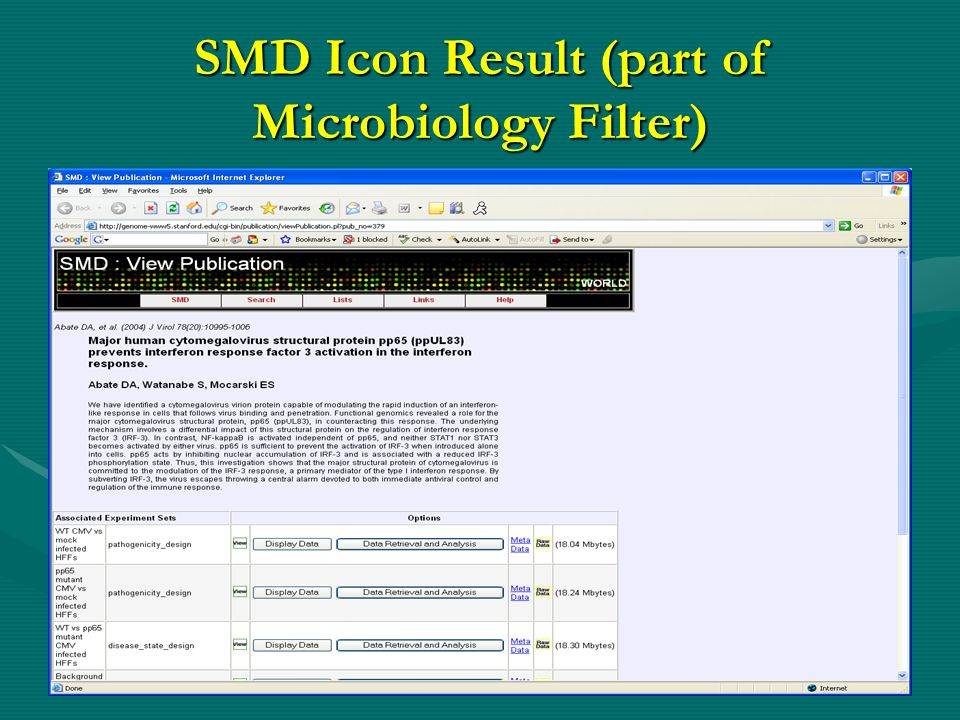 SMD Icon Result (part of Microbiology Filter)