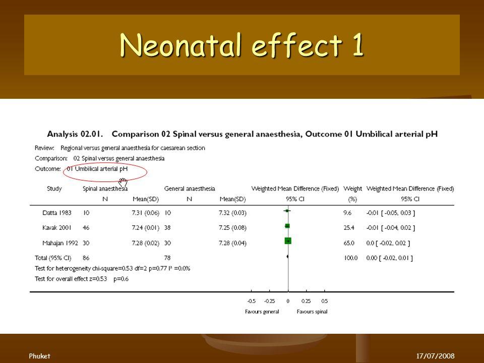 Neonatal effect 1 Phuket17/07/2008