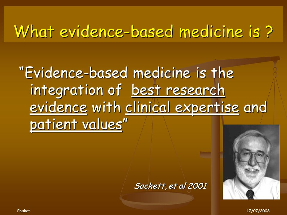 What evidence-based medicine is .