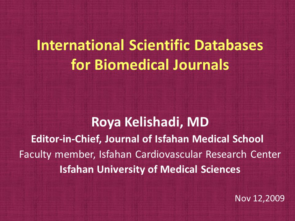 Do you wish to submit a journal for evaluation.
