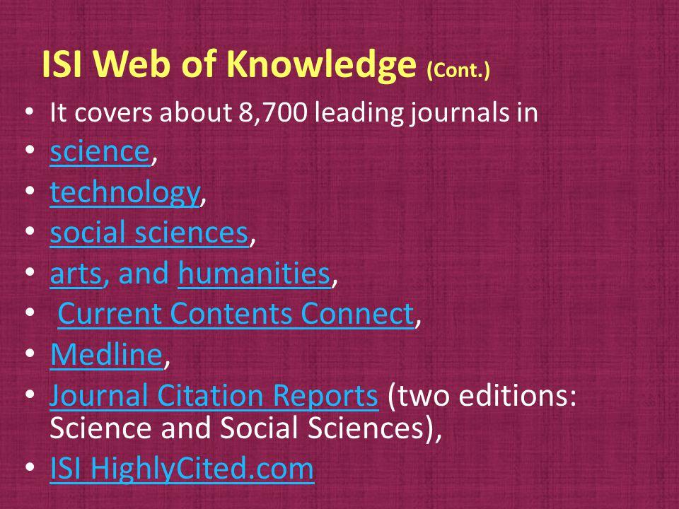 IndexCopernicus Evaluation Methodology 2009 (Cont.) Stage 3.