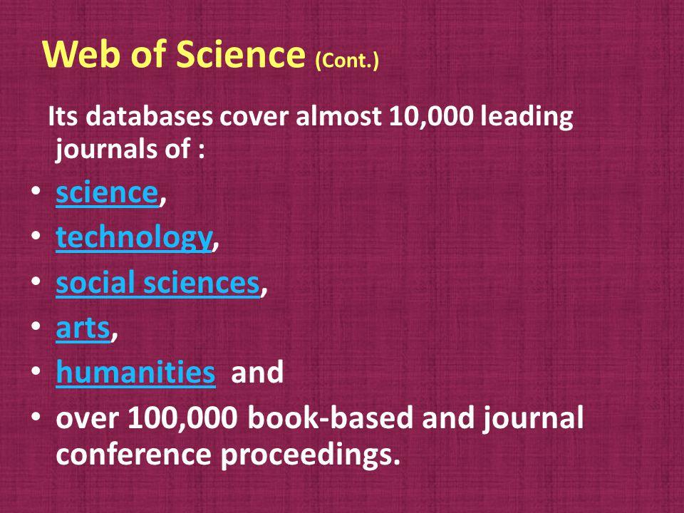 Main items I.Scientific Quality II. Editorial quality III.