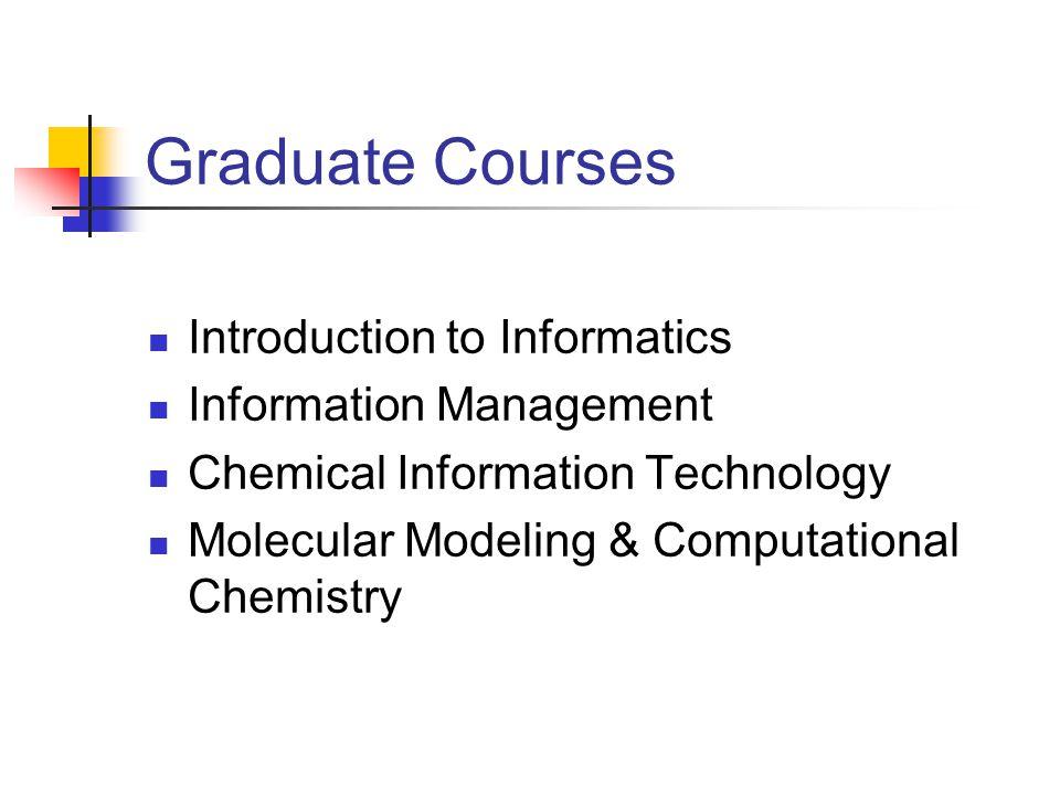 Master of Science in Informatics Programs Human Computer Interaction Health Informatics Bioinformatics Chemical Informatics