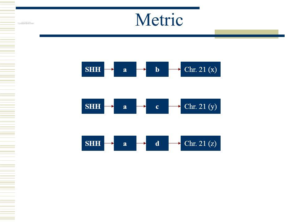 Metric SHHabChr. 21 (x)SHHacChr. 21 (y)SHHadChr. 21 (z)