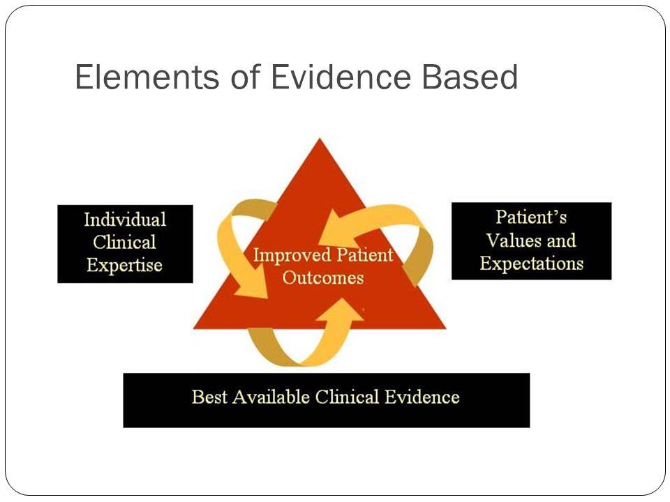 Elements of Evidence Based
