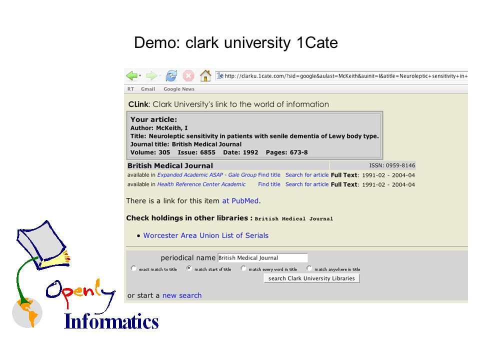 Demo: clark university 1Cate
