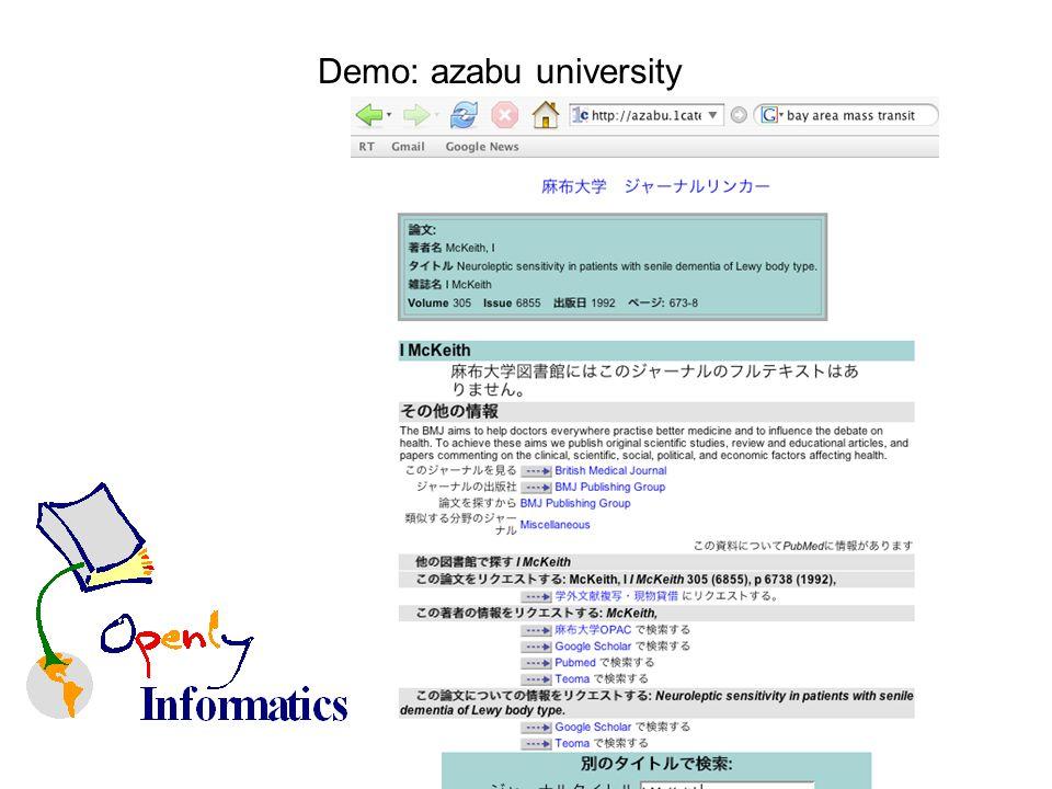 Demo: azabu university