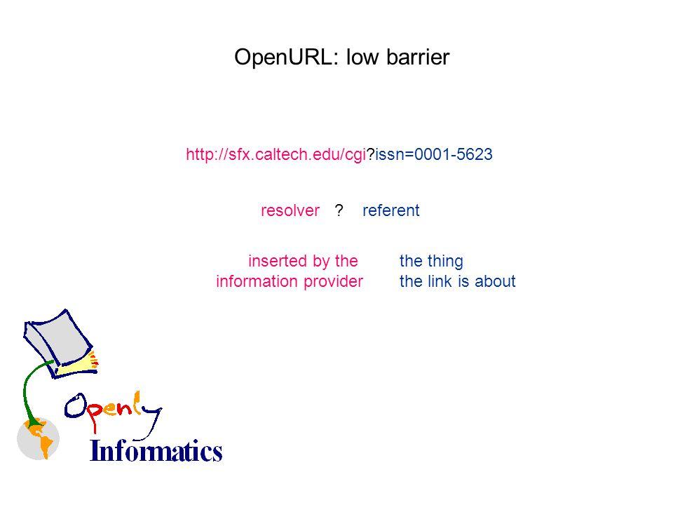 OpenURL: low barrier http://sfx.caltech.edu/cgi issn=0001-5623 resolver .