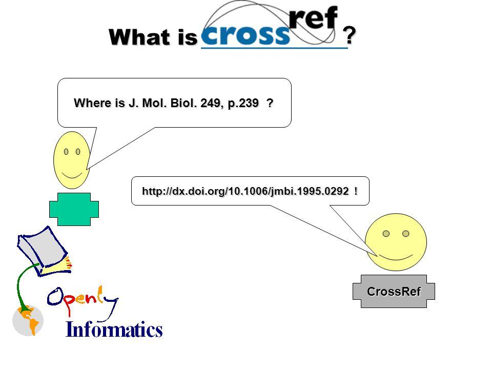 What is Where is J. Mol. Biol. 249, p.239 CrossRef http://dx.doi.org/10.1006/jmbi.1995.0292 !