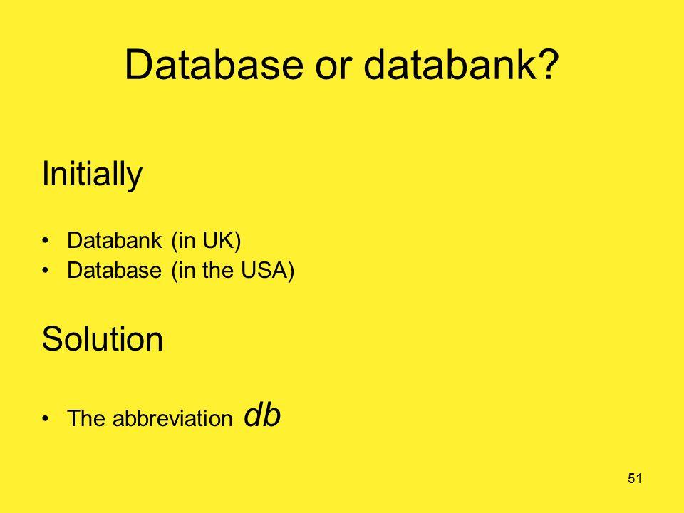 Database or databank.