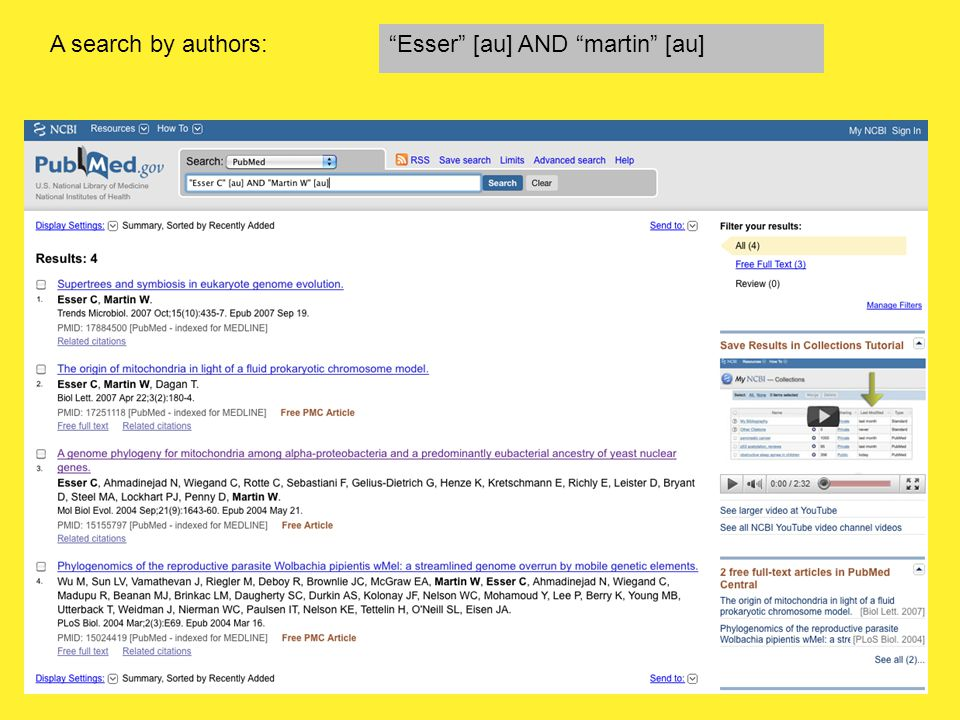 A search by authors: Esser [au] AND martin [au]