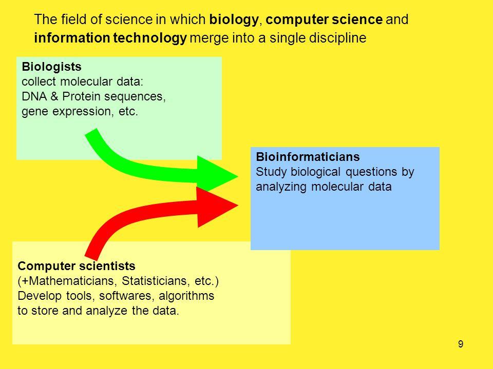 Some biological background…. A biologist 10