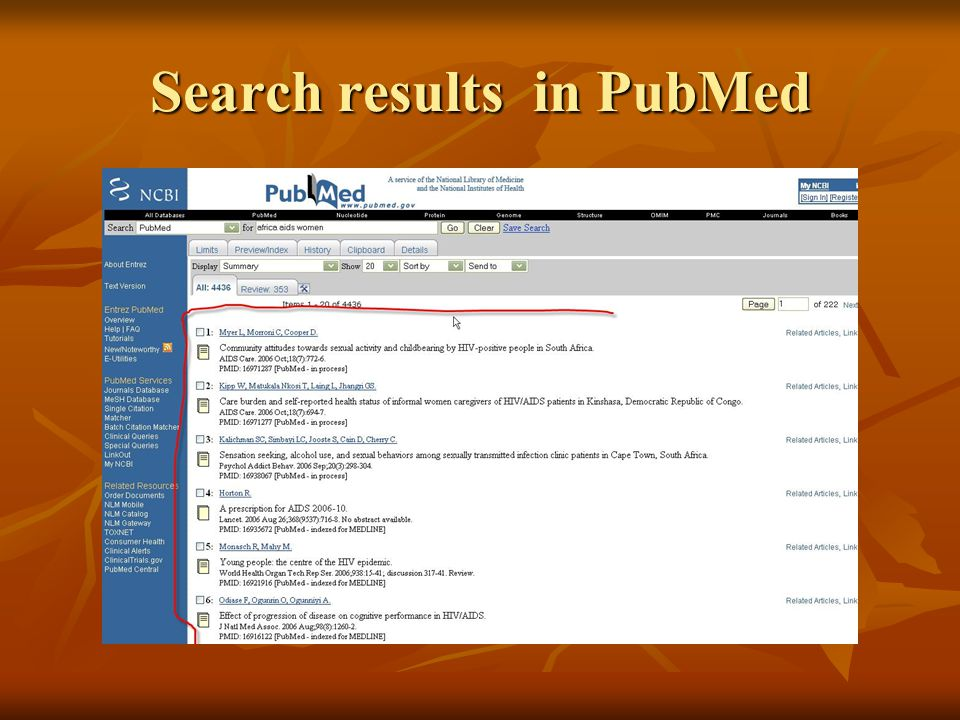 Search results in PubMed