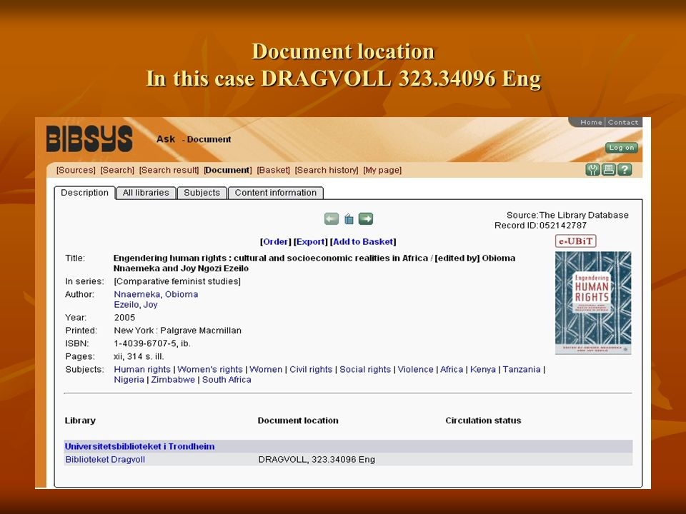 Document location In this case DRAGVOLL 323.34096 Eng