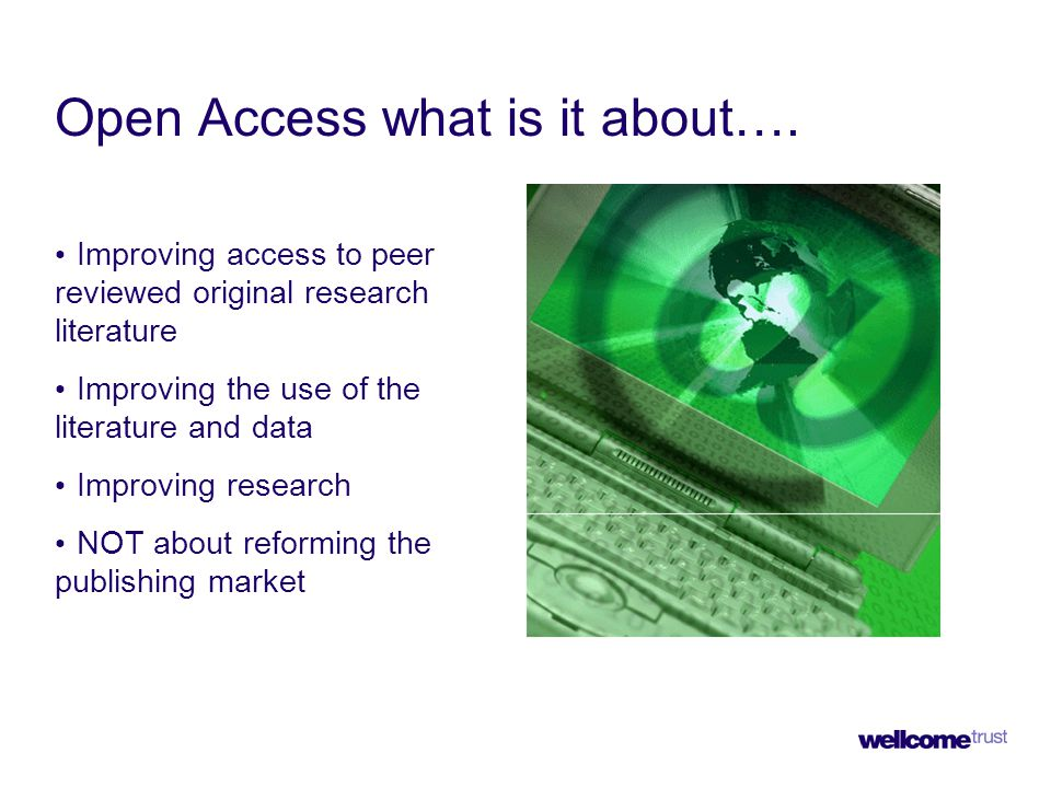 Open Access what is it about….