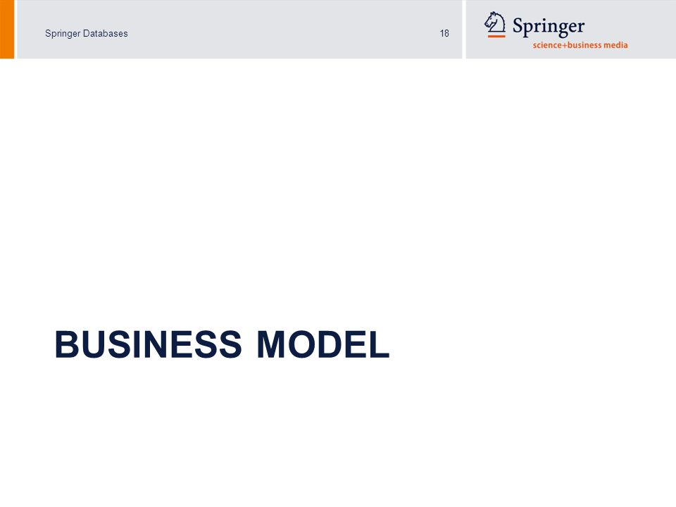 Springer Databases18 BUSINESS MODEL