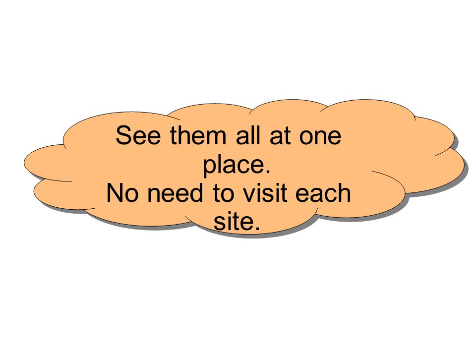 See them all at one place. No need to visit each site.