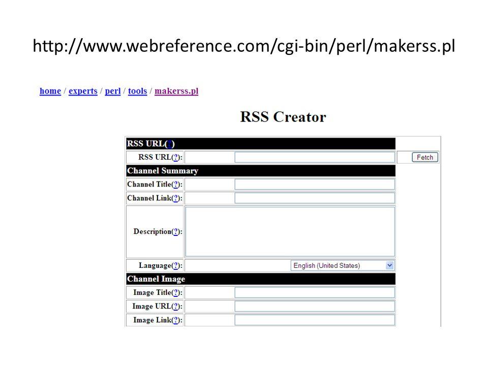 http://www.webreference.com/cgi-bin/perl/makerss.pl