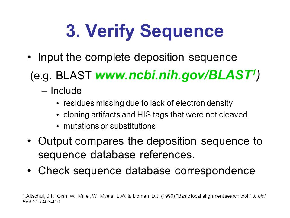 3. Verify Sequence Input the complete deposition sequence (e.g.