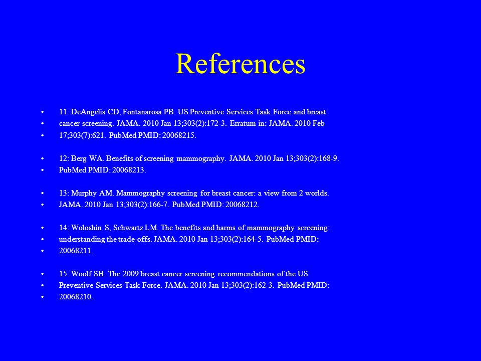 References 11: DeAngelis CD, Fontanarosa PB.
