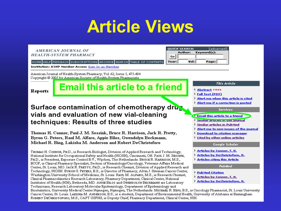 Article Views Email this article to a friend