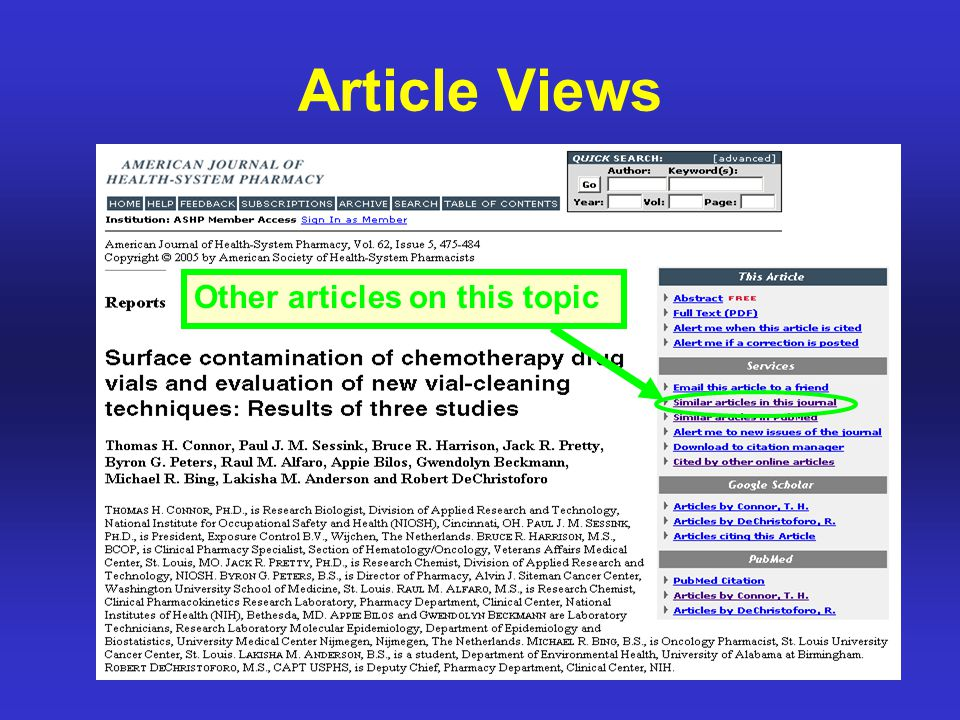 Article Views Other articles on this topic