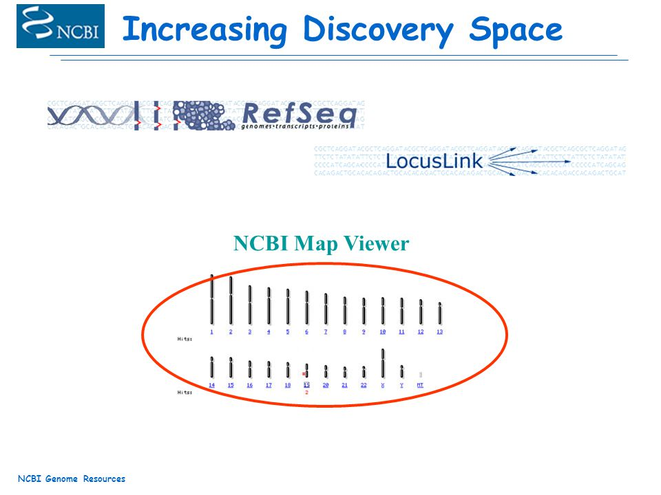 NCBI Genome Resources Increasing Discovery Space NCBI Map Viewer