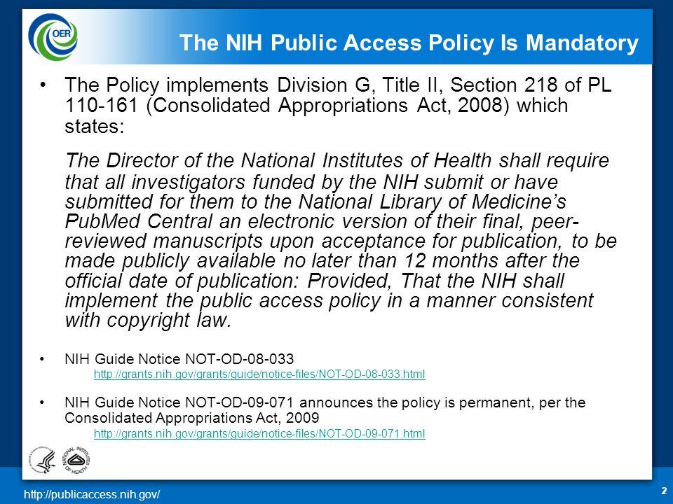 http://publicaccess.nih.gov/ My NCBI Report Click to Add Copy