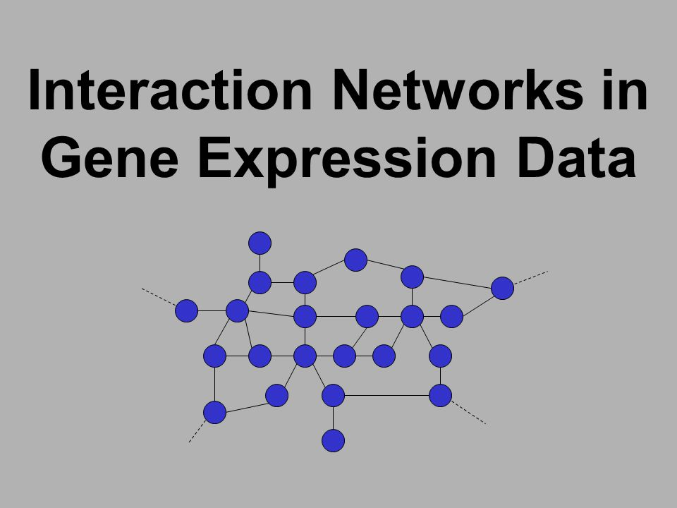 Interaction Networks in Gene Expression Data