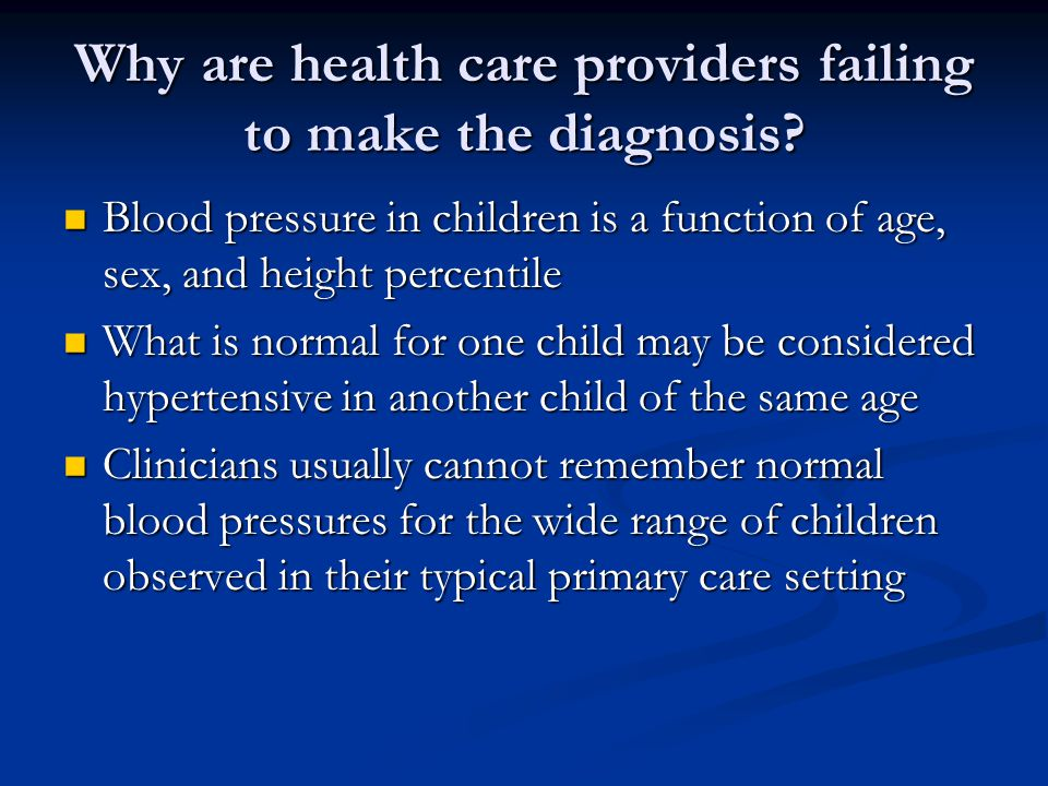 Why are health care providers failing to make the diagnosis.
