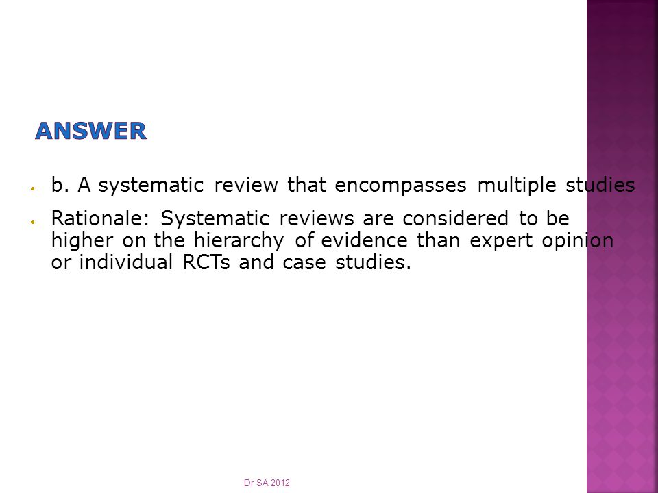  Which of the following online evidence sources is most likely to provide pre-appraised evidence.