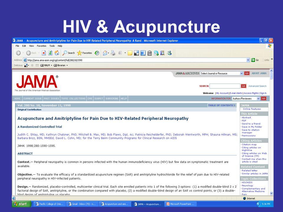 HIV & Acupuncture