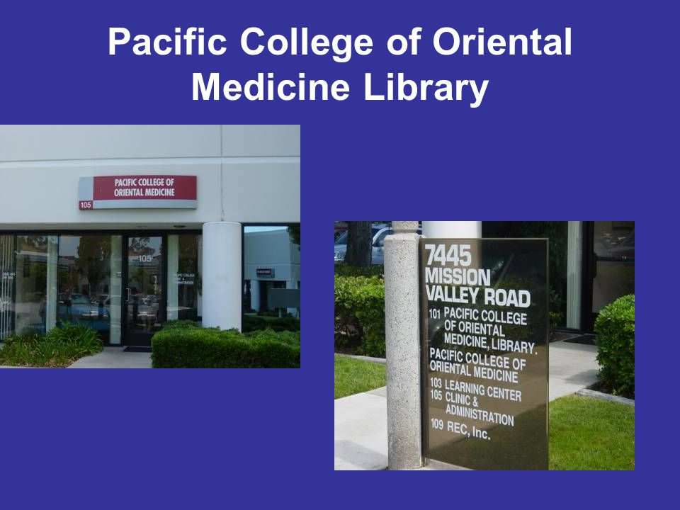 Pacific College of Oriental Medicine Library