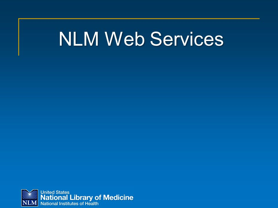 NLM Web Services