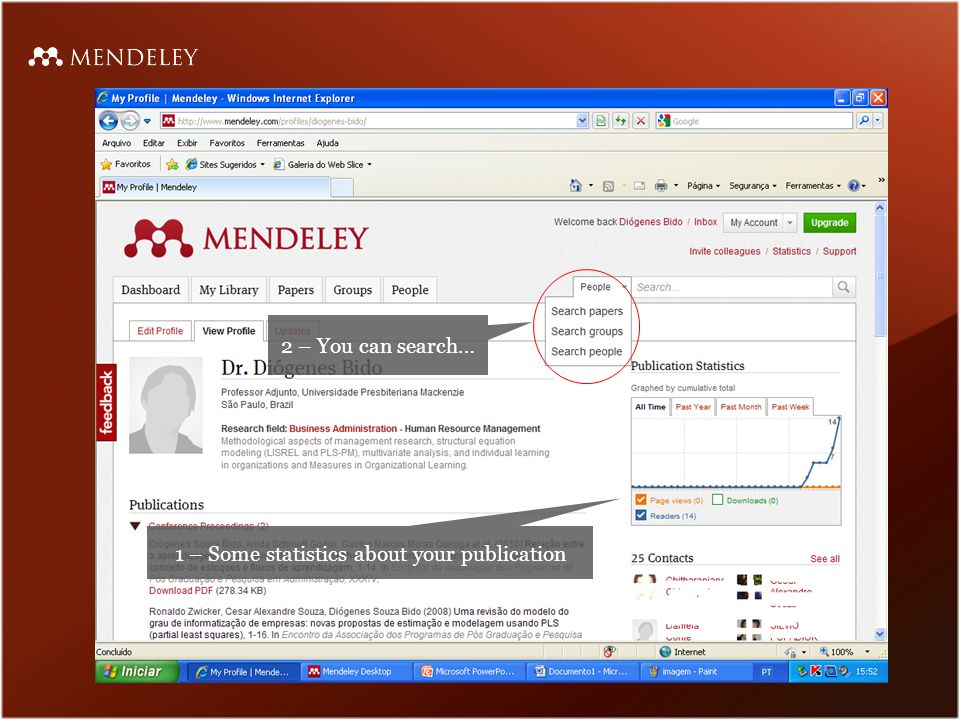 Full text search in Mendeley's PDF viewer