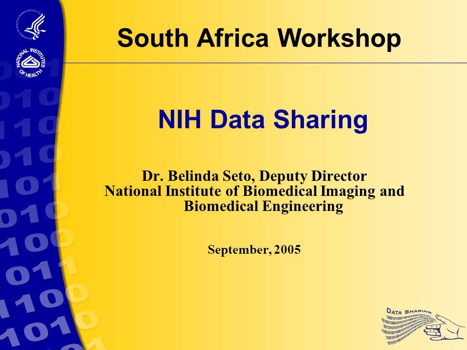 NIH Data Sharing Dr.