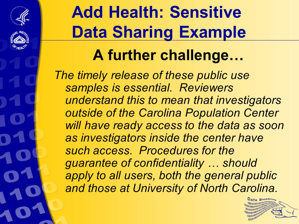 A further challenge… The timely release of these public use samples is essential.