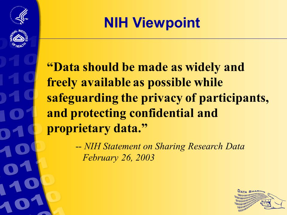 Reasons for Sharing Data  Scope  Potential  Cost Add Health: Sensitive Data Sharing Example