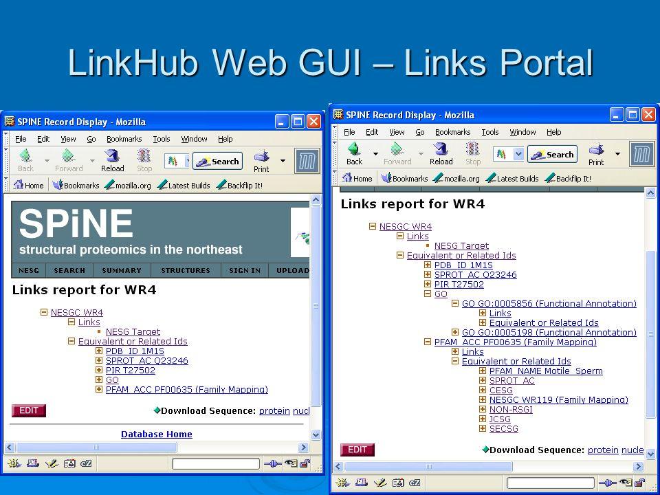 LinkHub Web GUI – Links Portal