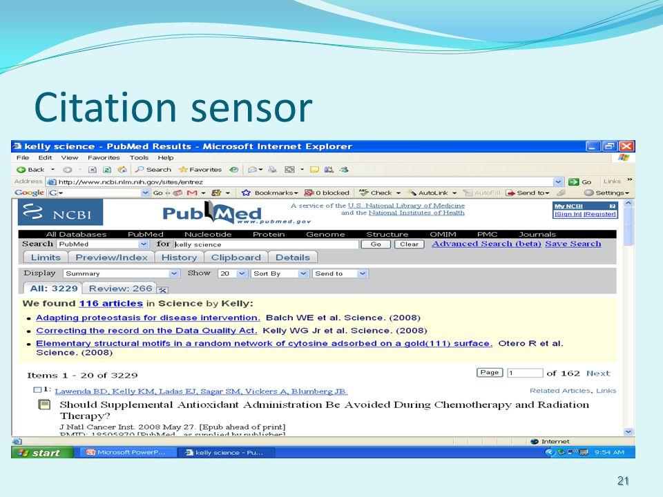 Citation sensor 21