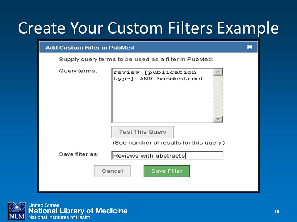 Create Your Custom Filters Example 15
