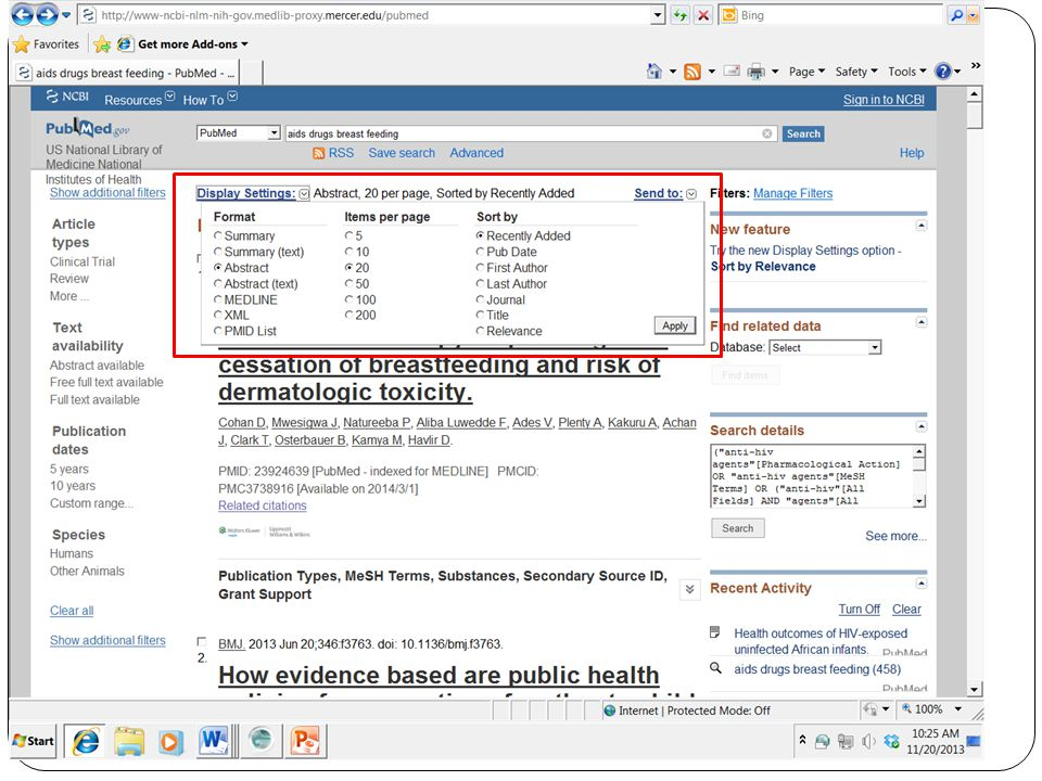 Revised 2013/03 PubMed for Trainers 10