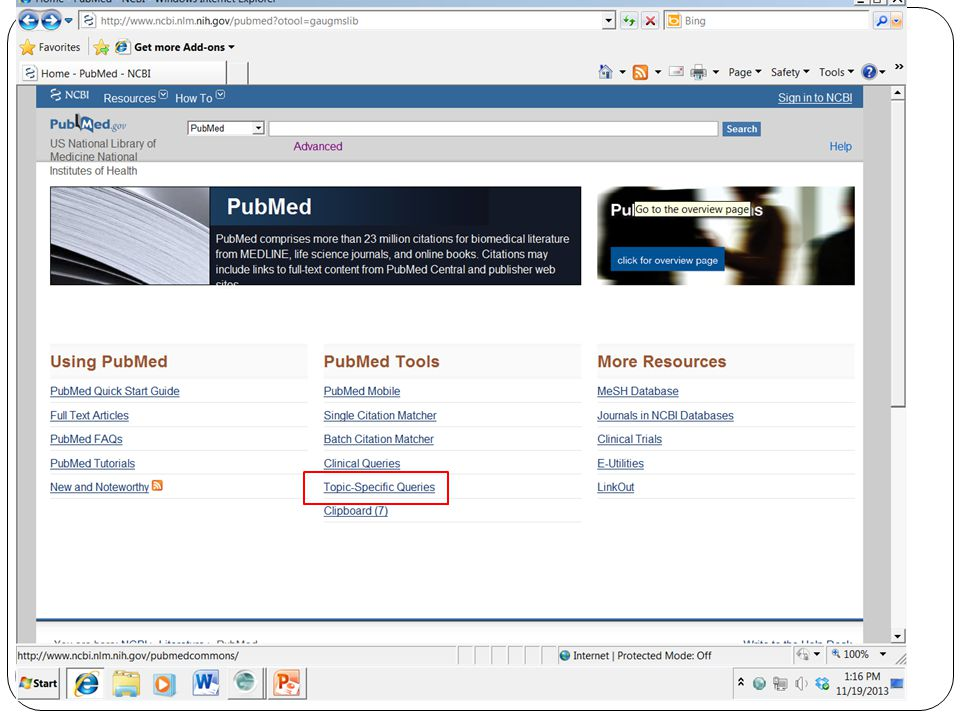Revised 2013/03 PubMed for Trainers 21