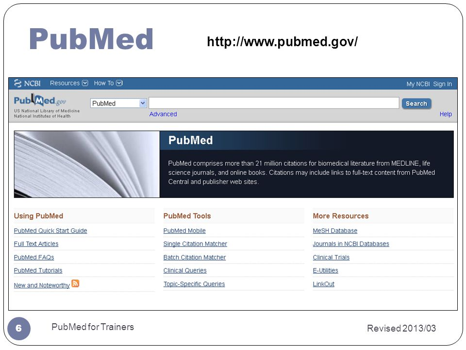 Revised 2013/03 PubMed for Trainers 17